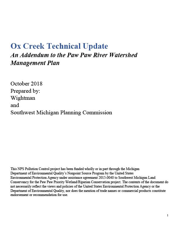 Ox Creek Technical Update Cover