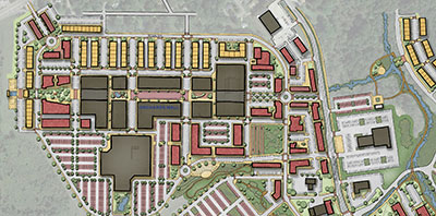 aerial map of orchards mall plan