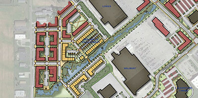 aerial map of greenfield development plan