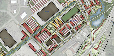aerial map of mall drive plan