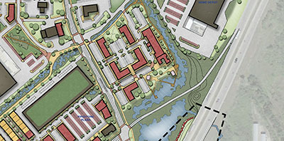 aerial map of pipestone corridor plan