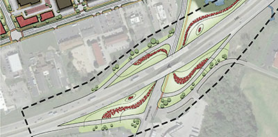 aerial map of exit 29 plan