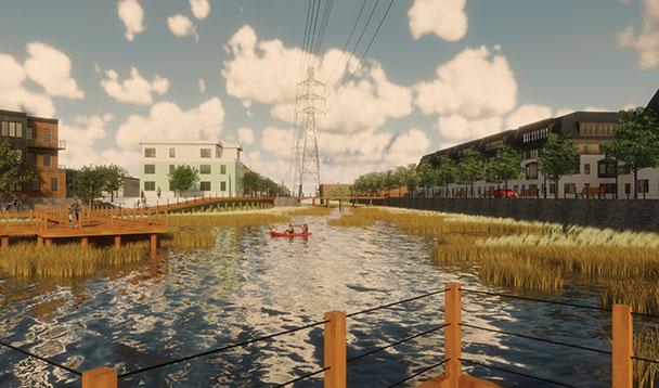 rendering of greenfield development vision 1