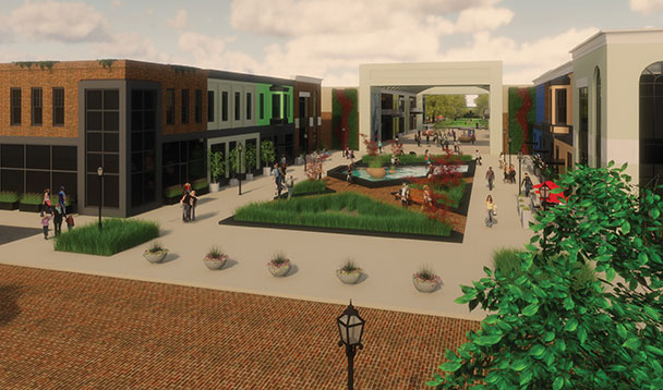 vision rendering of orchards mall promenade