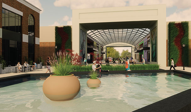 vision rendering of orchards mall pools