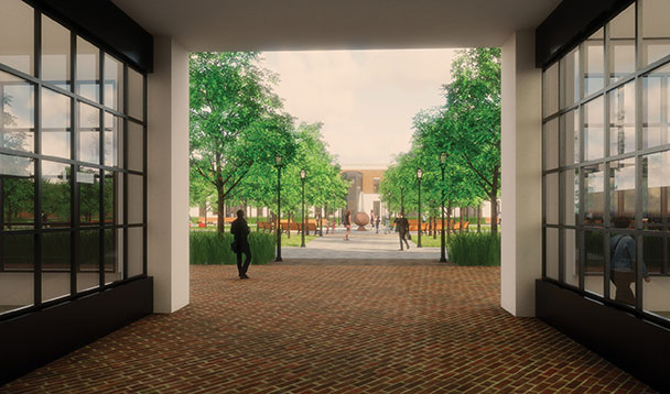 vision rendering of opening up orchards mall