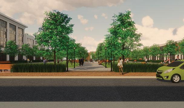 vision rendering of pipestone park plaza