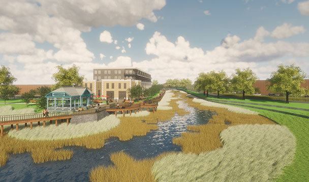 vision rendering of exit 29 trailhead township park